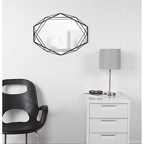Umbra Modern Geometric Shaped Oval Prisma Wall Mirror, Black