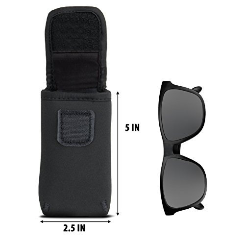 Sunglasses and Eyeglasses Case by USA Gear - Fits Designer Glasses & Shades by USA Gear (Image #2)