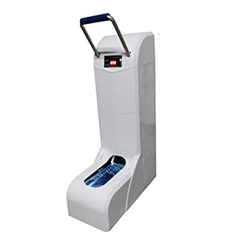 Shocly Dispensador AutomáTico De Cubiertas para Zapatos con Reposabrazos Conveniente + 100 Cubiertas Desechables Ecodegradables,