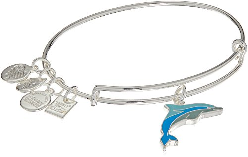Alex and Ani Charity By Design, Dolphin EWB, Shiny Silver Bangle ()