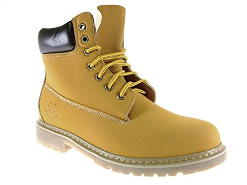 Hombres 506006 Lace Up Round Toe Dress Botas Casual Marrón