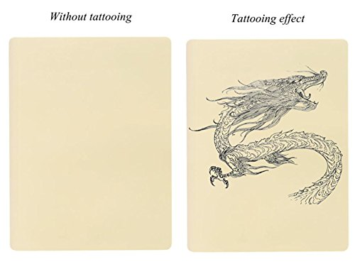 Blank Tattoo Skin Practice - Yuelong 10pcs Double Sides 8x6 Tattooing Microblading Practice Skin for Beginners and Experienced Tattoo Artists for Tattoo Kit,Tattoo Ink,Tattoo Machine,Tattoo Supplies by Yuelong (Image #3)