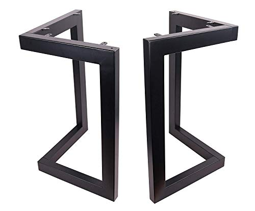 "ECLV 28"" Dining Table Legs, L-Shaped Steel Table Legs, Country Style Table Legs,Office Table Legs,Computer Desk Legs,Industrial Kitchen Table Legs,Set of 2,Black"