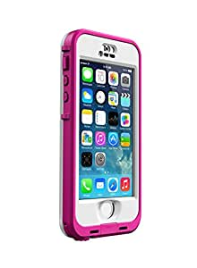 LifeProof NÜÜD SERIES Waterproof Case for iPhone 5/5s/SE - Retail Packaging - PINK (BLAZE PINK/CLEAR) (Discontinued by Manufacturer)