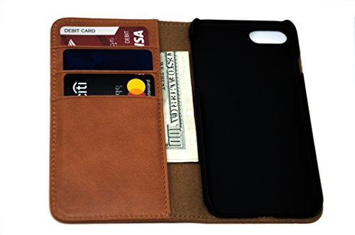 Nerdy Kid Leather Wallet Folio Case for Apple iPhone X (Orange, iPhone X) by Nerdy Kid