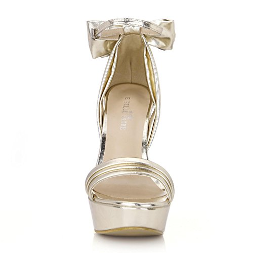 Sandali Shoes Best Bow Argento 4u Oro Peep Migliore Oro In Rubber Estate Suola Con Sandals Di Buckle Premium Pu Scarpe Gomma 3cm Gold Piattaforme Di Platforms Alti Tacchi One 3cm 14 Silver Toe Toe Women's Peep Centimetri 14cm Pumps Gold 4u Fibbia Una Pu Arco Leather Pelle Premium Basic Summer Sole Base In Delle Heels High Donne Di Pompe ggpdxPw