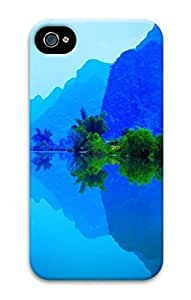 3D PC Case Cover for iPhone 4 Custom Hard Shell Skin for iPhone 4 With Nature Image- Landscape of Guilin