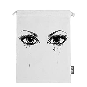 Abbmdd Eye Drawstring Beam Port Storage Bag Sanitary Napkin Storage Bag Gift Bag