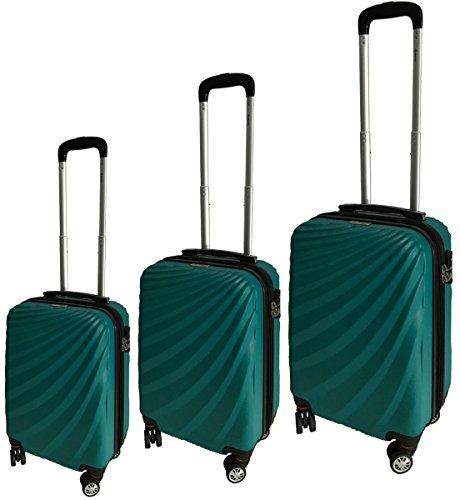 8540e36be5 McBrine Luggage Eco Friendly 3 Piece Luggage Set (Green)