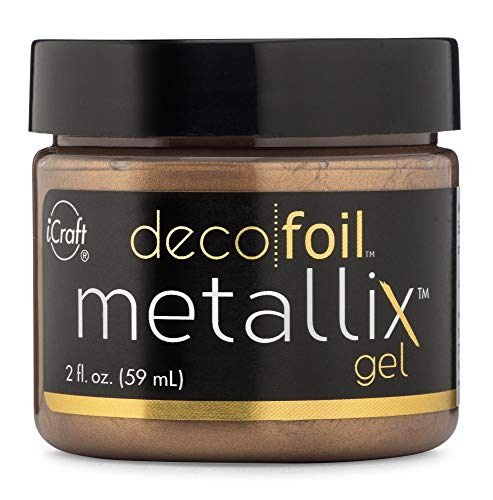 iCraft Deco Foil Metallix Gel, 2 Fl. Ounces, Aged Copper