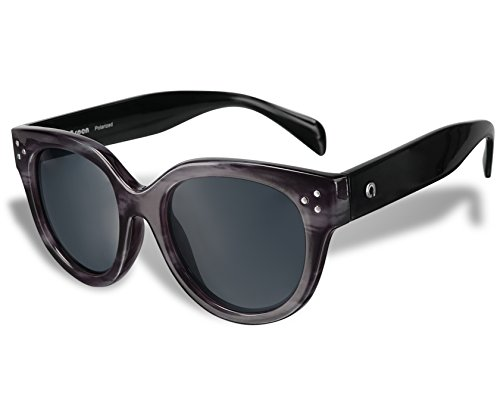 Aspen 70186 Fashion Polarized Sunglasses by Flux for Women uv400 (Black Marble, - Kardashian Sunglasses Khloe