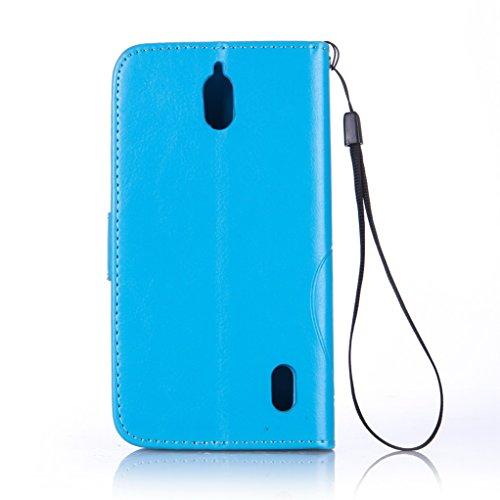 Trumpshop Smartphone Carcasa Funda Protección para Huawei P8 Lite (Serie Diamante) + Azul + PU Cuero Caja Protector con Cierre Magnético la Ranura la Tarjeta Choque Absorción Azul