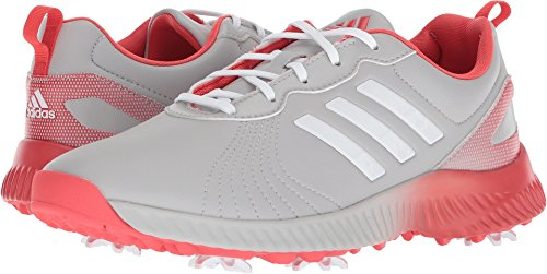 adidas Women's W Response Bounce Golf Shoe, Grey Two FTWR White/Real Coral s, 6.5 Medium US