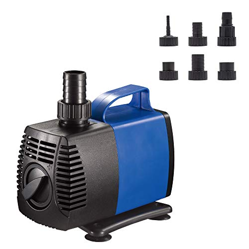 (JAJALE 1450 GPH Submersible Water Pump Ultra Quiet for Pond,Aquarium,Fish Tank,Fountain,Hydroponics)