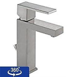 Delta Faucet 567LF-SSPP Modern Single Handle Lavatory Faucet