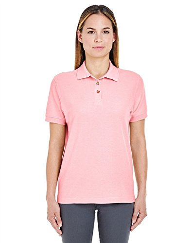 UltraClub 8541 Ladies Whisper Pique Polo Pink X-Large