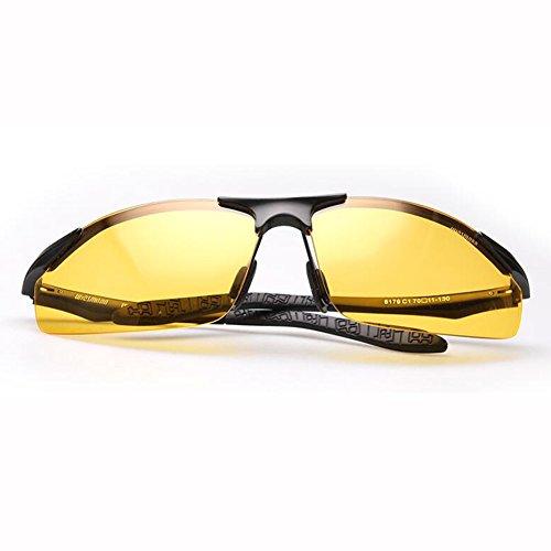 MG Día De masculinas Uso Aleación Conductor 2 de De Y Gafas Anti Reflejante gafas 2 sol Dual UV ZX Al ZX Noche Color Sol Hombres Anti fZwRxYqtn
