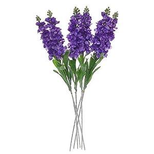 "Lily Garden Set of 6 Stems 32"" Artificial Antirrhinum Snapdragon Silk Flowers (Light Purple) 10"
