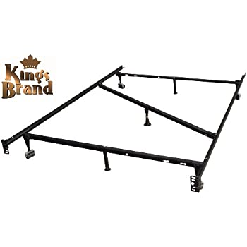 this item 7 leg heavy duty adjustable metal full size bed frame with center support rug rollers and locking wheels