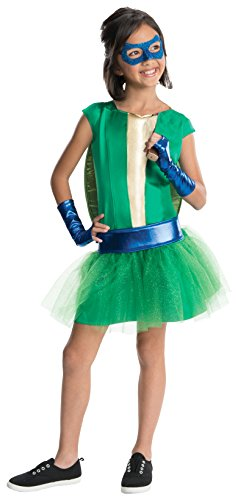 [Rubies Teenage Mutant Ninja Turtles Deluxe Leonardo Tutu Dress Costume, Child Medium] (Teen Teenage Mutant Ninja Turtle Costumes)