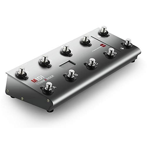 (MIDI Foot Controller,MeloAudio Guitar Floor Multi-Effects Portable USB MIDI Foot Controller with 10 Foot Switches,2 Expression Pedal Jacks and 8 Host Presets)