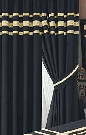 Glamour Black With Gold Trim Ribbon Luxurious