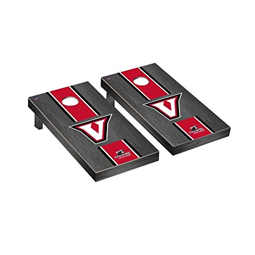 - Victory Tailgate Regulation Collegiate NCAA Onyx Stained Stripe Series Cornhole Board Set - 2 Boards, 8 Bags - Virginia at Wise Cavaliers