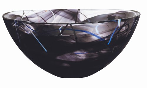 Kosta Boda Contrast Large Black Bowl (Anna Large Bowl)