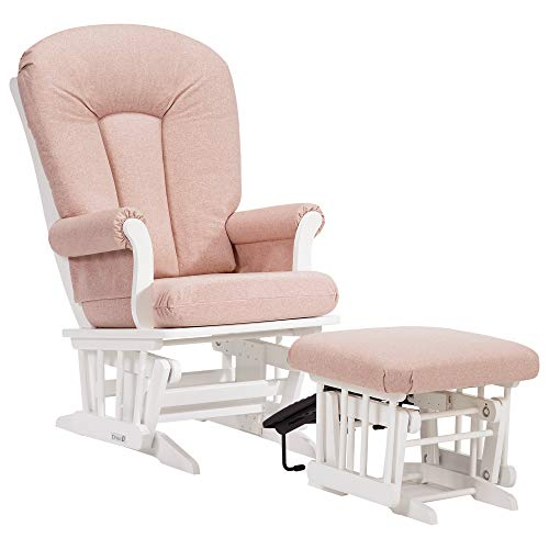 (Dutailier Sleigh 0365 Glider Chair with Nursing Ottoman Included)