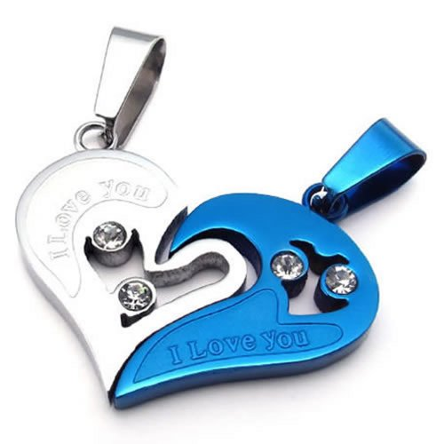 KONOV Couples Stainless Pendant Necklace product image