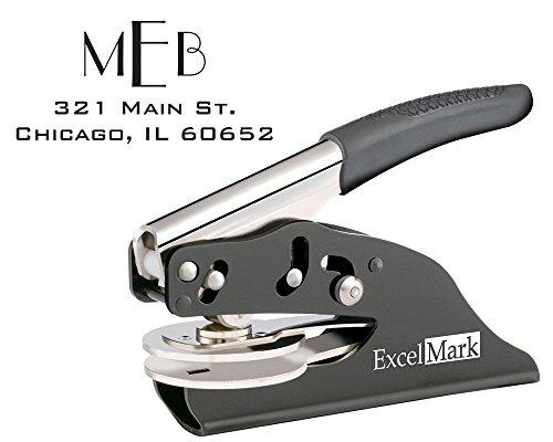 ExcelMark Hand Held Embosser - Monogram Address Gift Embosser – Style 22 by ExcelMark
