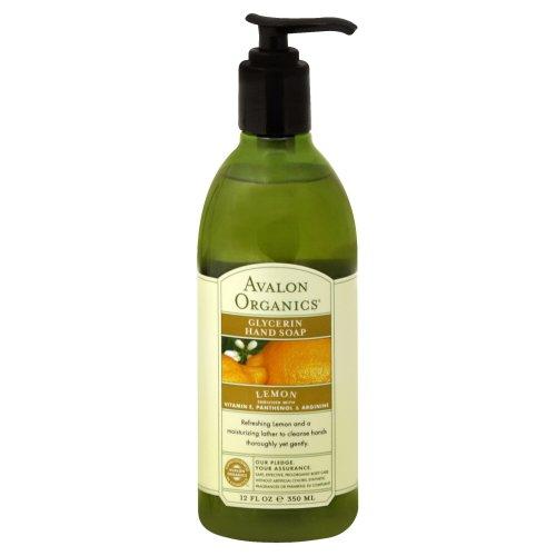 Lemon Glycerine Soap (Avalon Organics Glycerin Liquid Hand Soap Lemon 12 fl oz (Pack of 8))