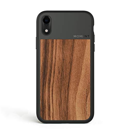 iPhone Xr Case || Moment Photo Case in Walnut Wood - Thin, Protective, Wrist Strap Friendly case for Camera Lovers.