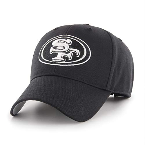 OTS NFL San Francisco 49ers All-Star Adjustable Hat, Black & White, One Size