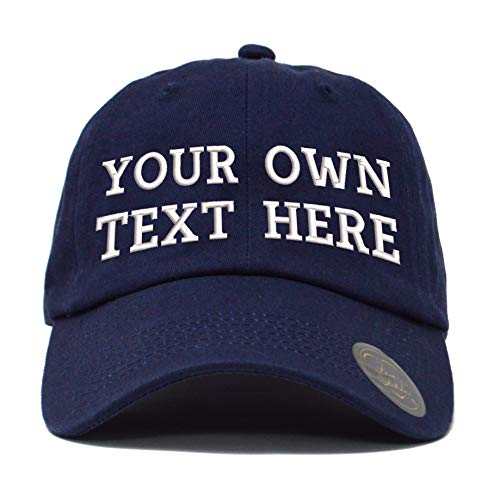 Love Sketches Custom Classic Polo Style Baseball Cap All Cotton Made Adjustable Fit Men Women Low Profile Dad Cap Hat (Navy)