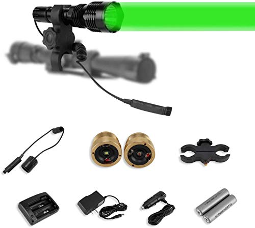 Morsun Cree Green Red White Hunting Light Kit with 1