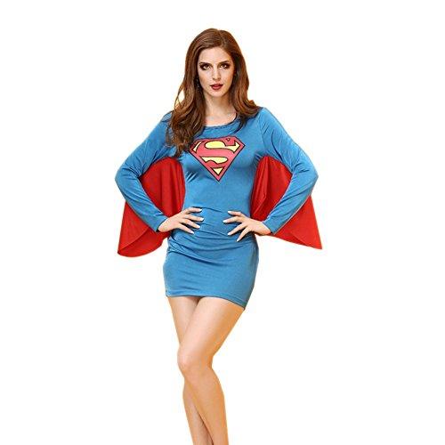 Mix Texturizer (LTEllZ SU30053C2 Superman COSPLAY Women Sexy Dress - Size S)