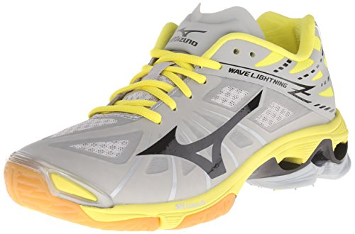 ddffeedf42dbf Mizuno Women's Wave Lightning Z WOMS GY-YW Volleyball Shoe, Grey/Yellow,  9.5 D US