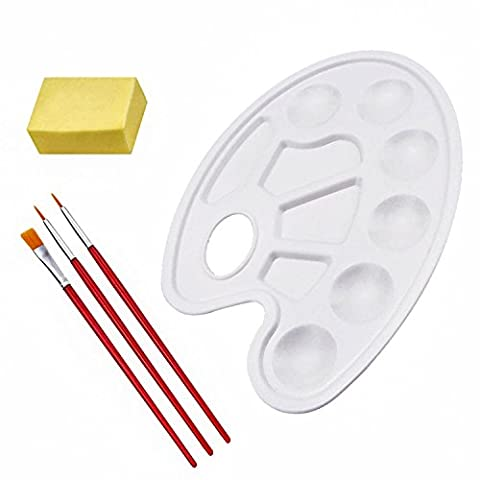 eBoot Paint Tray Palettes with Paint Brushes and Art Sponge (Painting Pallet Trays)