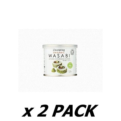 (2 Pack) - Clearspring - Organic Wasabi Powder | 25g | 2 PACK BUNDLE