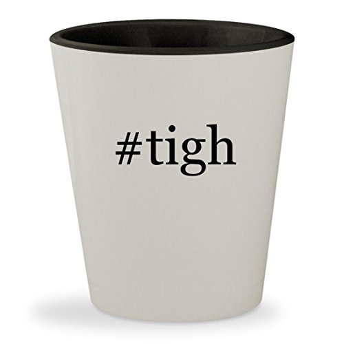 #tigh - Hashtag White Outer & Black Inner Ceramic 1.5oz Shot Glass