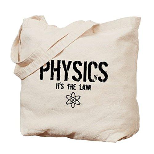 CafePress–Física–es la ley.–gamuza de bolsa de lona bolsa, bolsa de la compra