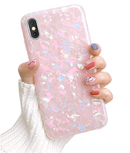 Dailylux iPhone XR Case,Cute Phone Case for Girls Women Glitter Pretty Design Protective Slim Shockproof Pearly-Lustre Shell Bumper Soft Silicone TPU Cover iPhone XR 6.1 inch - Colorful Case Protective