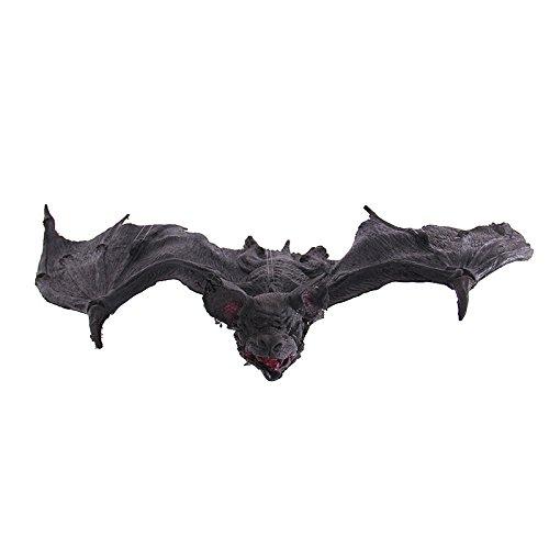 Damjic Halloween Bat Arrangement Simulation Vampire Bat Latex Bat Tuba 80CM