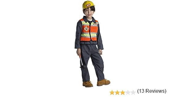 Dress Up America Traje de Disfraz de Trabajador de construcción de ...