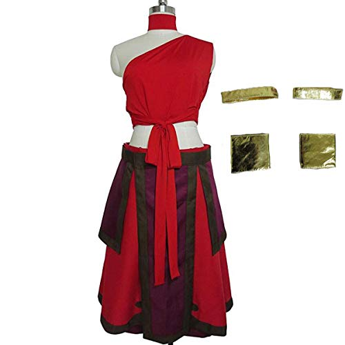 NSOKing Anime The Last Airbender Katara Dress Cosplay Avatar Halloween Costume Custom Made (X-Large, Red)