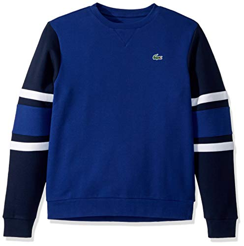 Lacoste Mens Sport Long Sleeve Color Block Crewneck Sweatshirt