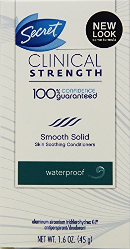Secret Clinical Strength Smooth Solid Antiperspirant Deodorant Waterproof All Day Fresh Scent, 1.6 Ounce (Pack of 2)