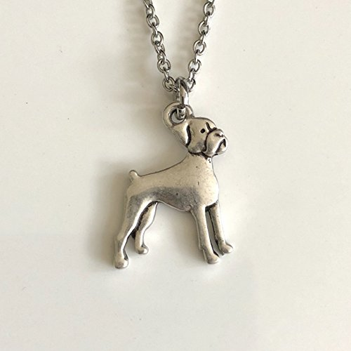 Boxer Necklace on Stainless Steel Chain - Dog Breed Jewelry - Dog Mom Gift