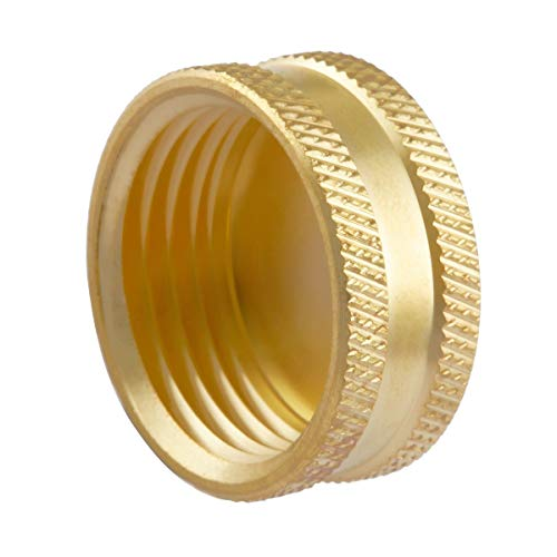 Litorange (12 Pack Garden Hose Female End Brass Fitting Cap Set, Green Thumb Heavy Duty & Leak-Free, Connect to GHT 3/4